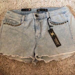 Kardashian Kollection denim shorts
